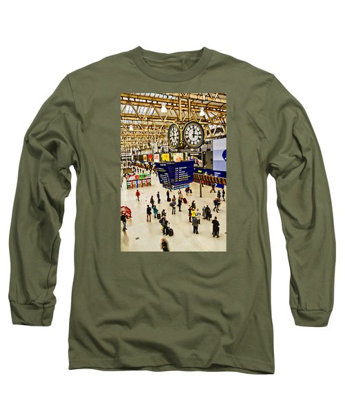 London Waterloo Station Long Sleeve T-Shirt by David French