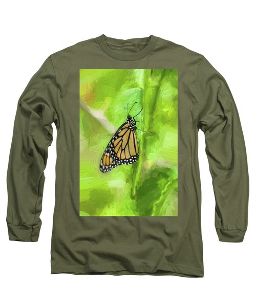Monarch Butterflies Long Sleeve T-Shirt by Rich Franco