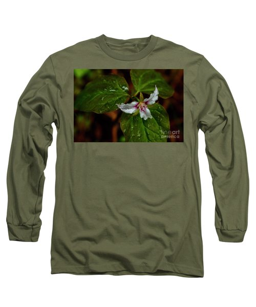 Long Sleeve T-Shirt featuring the photograph Painted Trillium  by Thomas R Fletcher