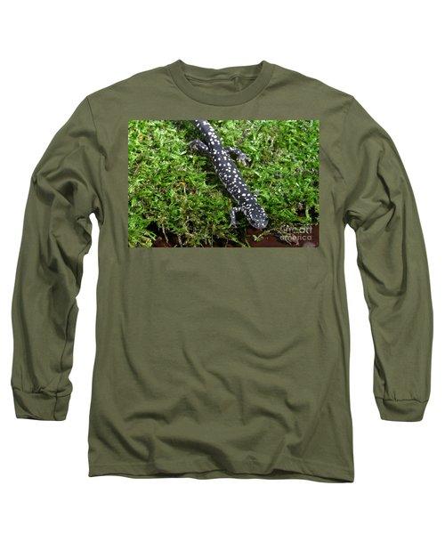 Slimy Salamander Long Sleeve T-Shirt by Ted Kinsman