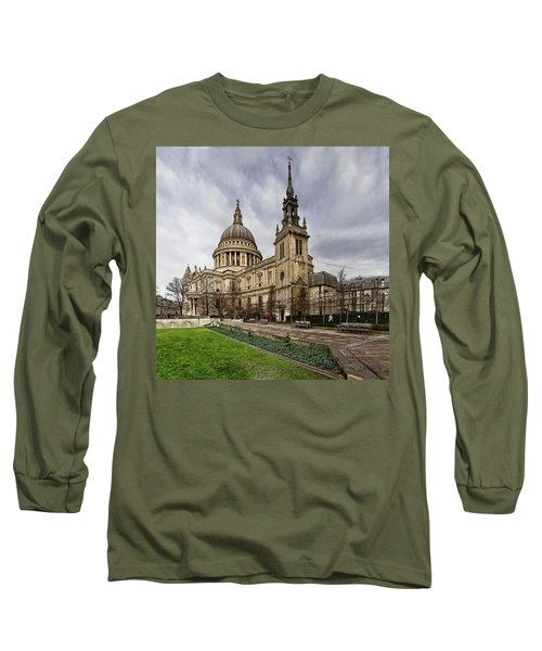 St Pauls Cathedral Long Sleeve T-Shirt by Shirley Mitchell