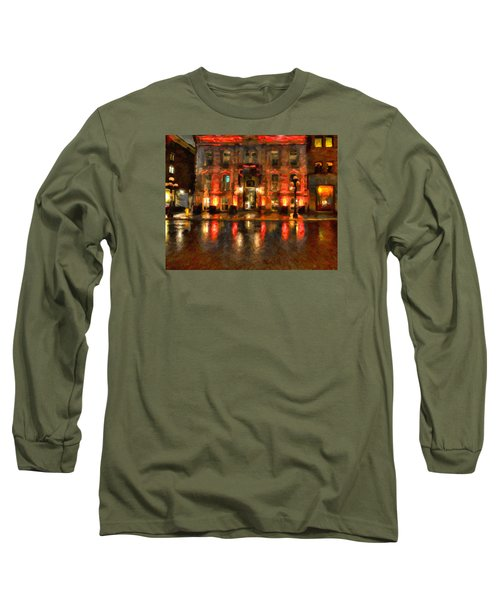 Street Reflections Long Sleeve T-Shirt by Andre Faubert