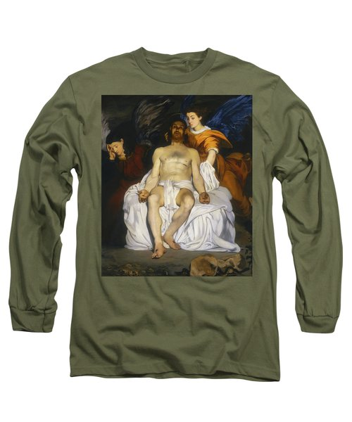 Long Sleeve T-Shirt featuring the painting The Dead Christ With Angels by Edouard Manet