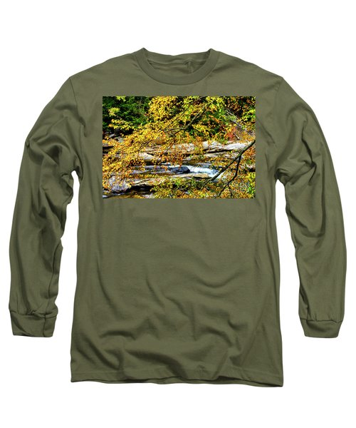 Autumn Middle Fork River Long Sleeve T-Shirt by Thomas R Fletcher