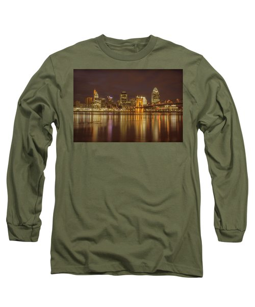 Cincinnati, Ohio Long Sleeve T-Shirt by Scott Meyer