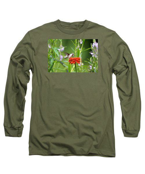 Long Sleeve T-Shirt featuring the photograph Humming Bird by Lila Fisher-Wenzel
