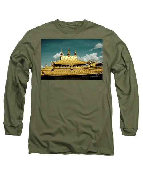 Lhasa Jokhang Temple Fragment Tibet Artmif.lv Long Sleeve T-Shirt