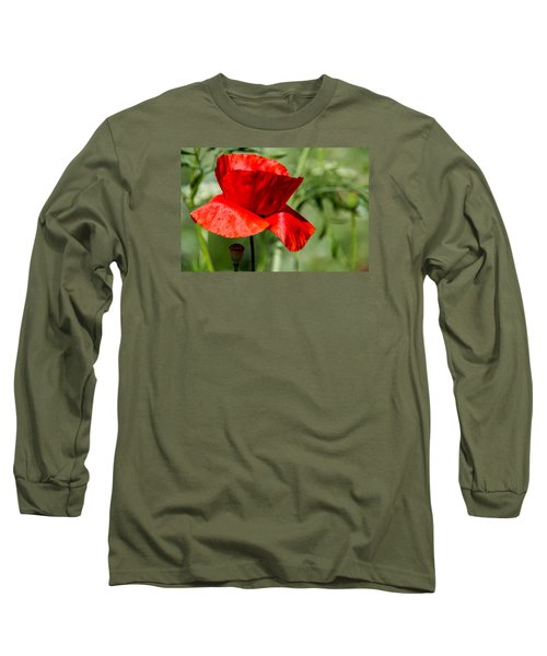 Poppy Long Sleeve T-Shirt by Martina Fagan