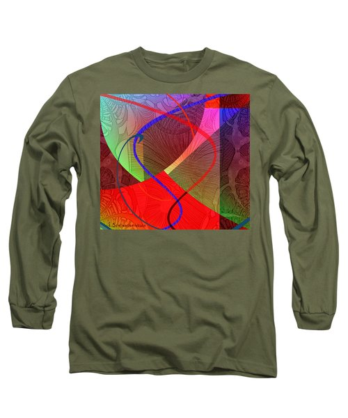 504 - Patterns  2017 Long Sleeve T-Shirt by Irmgard Schoendorf Welch