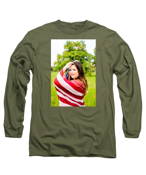 Long Sleeve T-Shirt featuring the photograph 5654-2 by Teresa Blanton