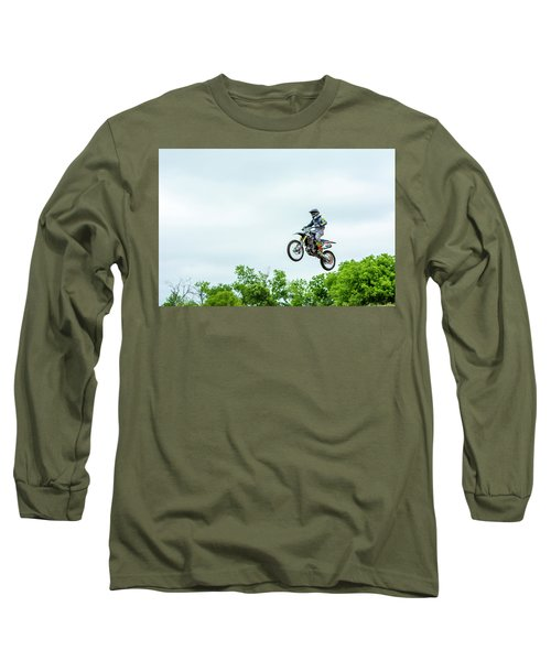 Long Sleeve T-Shirt featuring the photograph 573 Flying High At White Knuckle Ranch by David Morefield