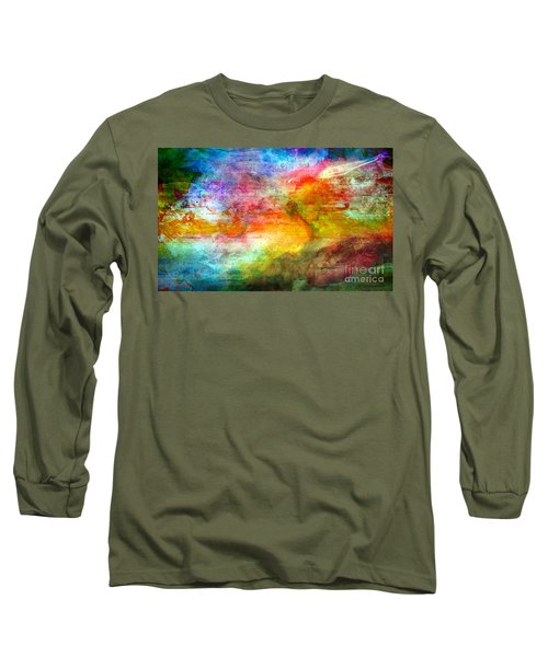 5a Abstract Expressionism Digital Painting Long Sleeve T-Shirt