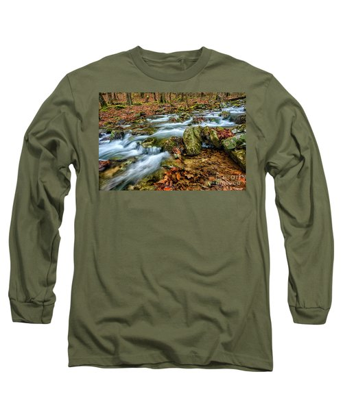 Long Sleeve T-Shirt featuring the photograph Aldrich Branch Monongahela National Forest by Thomas R Fletcher