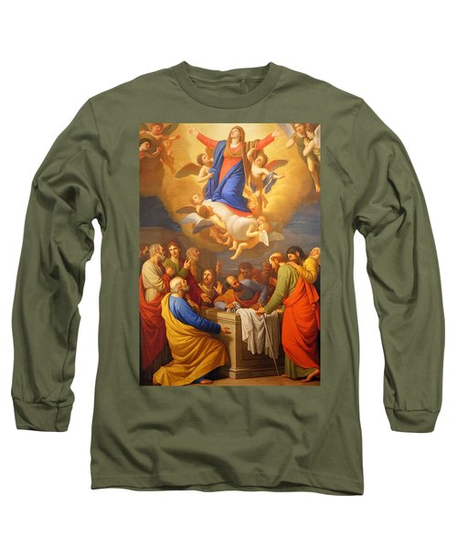 Long Sleeve T-Shirt featuring the painting Angels by Munir Alawi