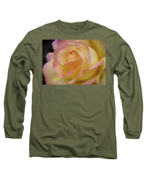 Rose Beauty Long Sleeve T-Shirt by Shirley Mitchell