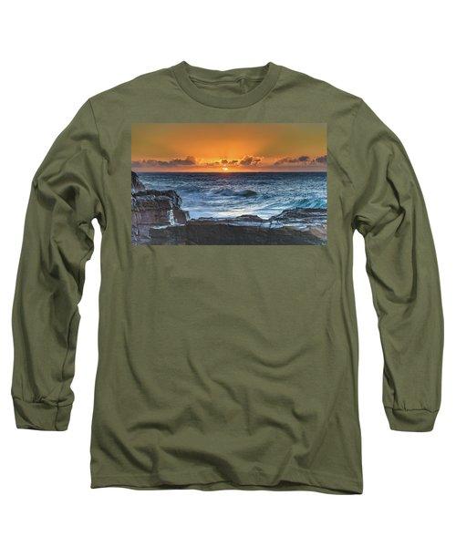 Sunrise Seascape With Sun Long Sleeve T-Shirt
