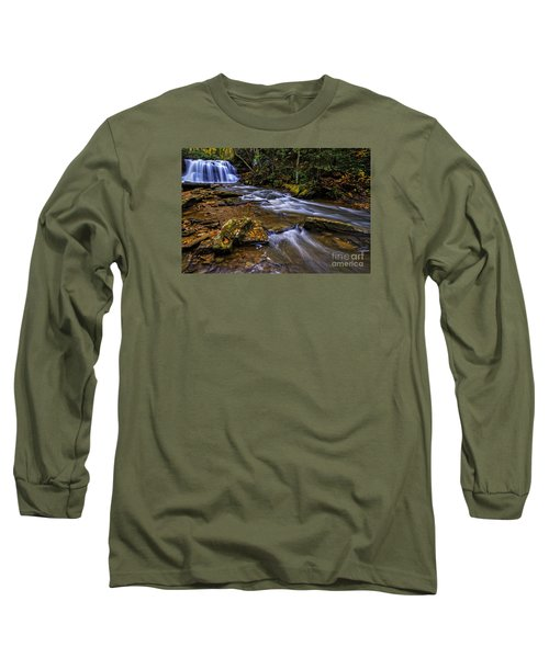 Upper Falls Holly River Long Sleeve T-Shirt by Thomas R Fletcher