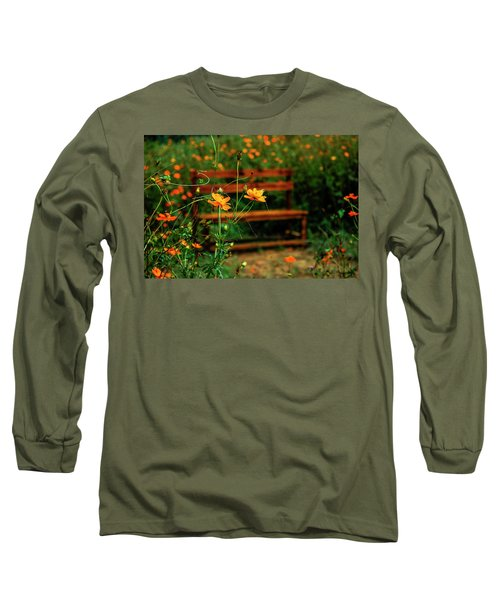 Galsang Flowers In Garden Long Sleeve T-Shirt