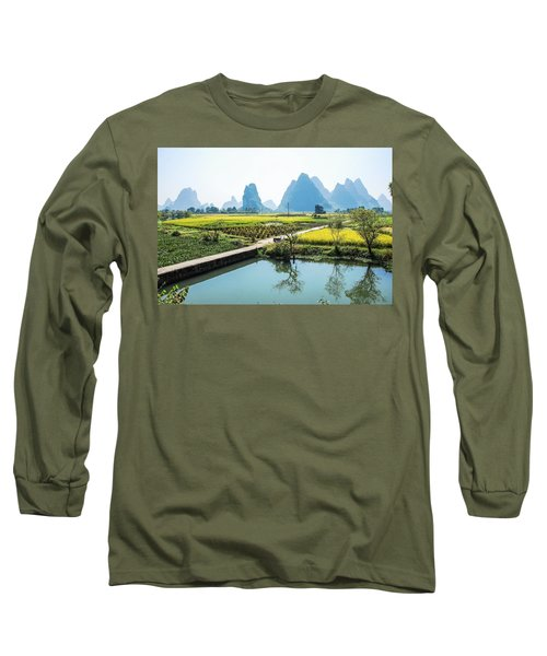 Rice Fields Scenery In Autumn Long Sleeve T-Shirt