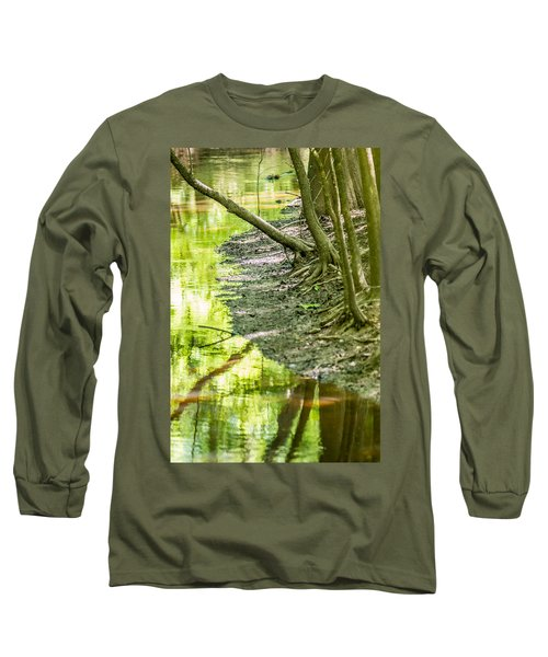 cypress forest and swamp of Congaree National Park in South Caro Long Sleeve T-Shirt