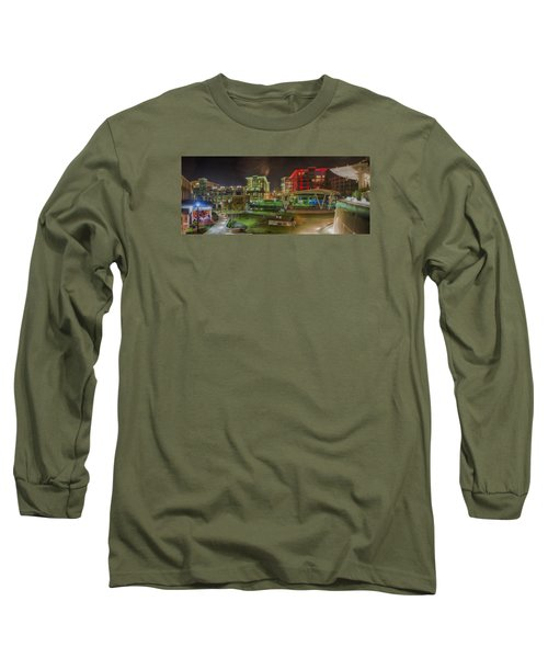 Greenville South Carolina Near Falls Park River Walk At Nigth. Long Sleeve T-Shirt