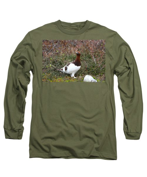 Willow Ptarmigan Long Sleeve T-Shirt by Doug Lloyd