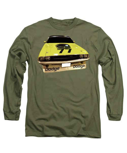 77 Yellow Dodge Long Sleeve T-Shirt