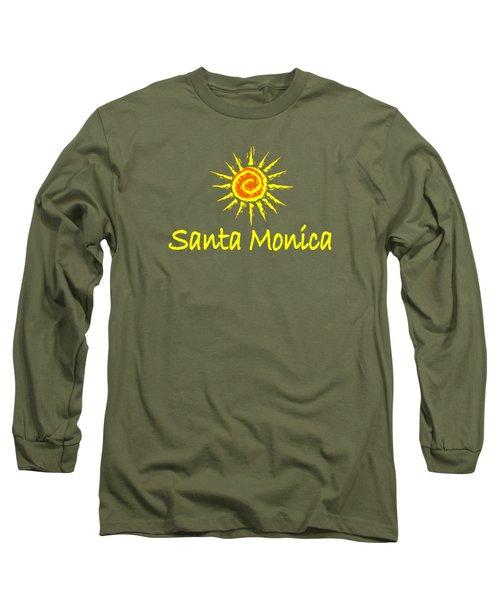 Santa Monica Long Sleeve T-Shirt by Brian's T-shirts