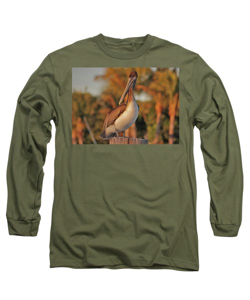 Long Sleeve T-Shirt featuring the photograph 9- Brown Pelican by Joseph Keane