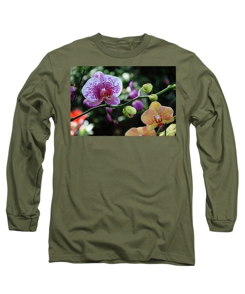 Butterfly Orchid Flowers Long Sleeve T-Shirt