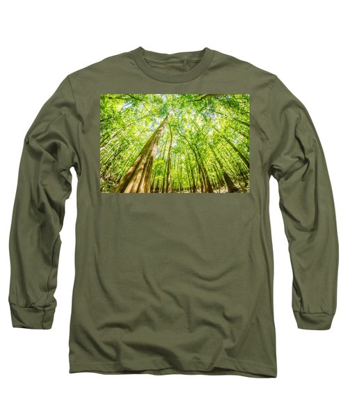 Long Sleeve T-Shirt featuring the photograph cypress forest and swamp of Congaree National Park in South Caro by Alex Grichenko