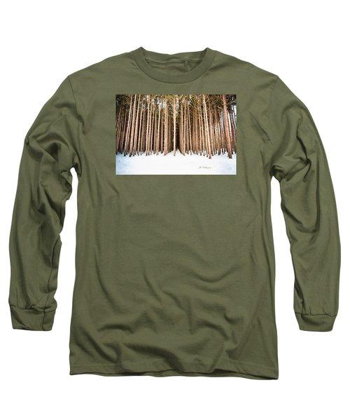 Michigan Winter Long Sleeve T-Shirt by Jill Wellington