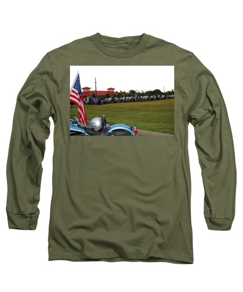 911 Ride Line Up Long Sleeve T-Shirt by Angela Murray