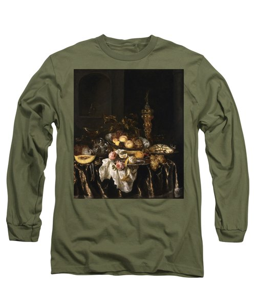 A Banquet Still Life With Roses Long Sleeve T-Shirt