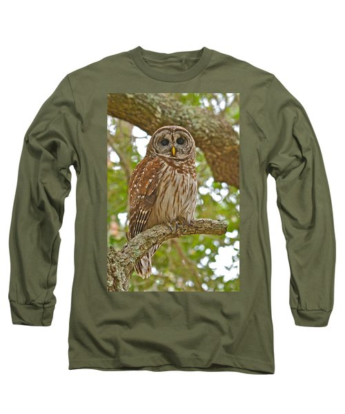 A Barred Owl Long Sleeve T-Shirt