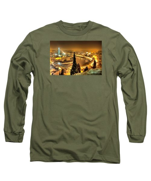 A Beautiful Blonde In Thick Paint Long Sleeve T-Shirt by Catherine Lott