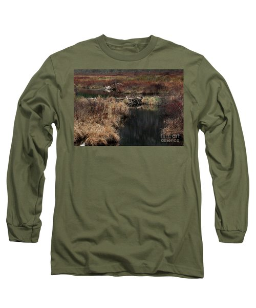 A Beaver's Work Long Sleeve T-Shirt by Skip Willits