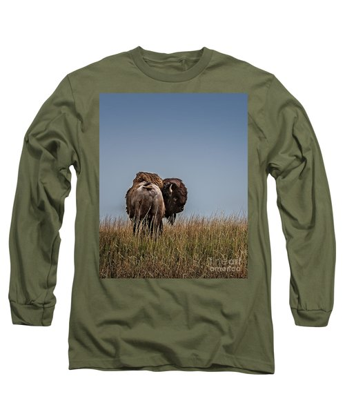 A Bison Interrupted II Long Sleeve T-Shirt