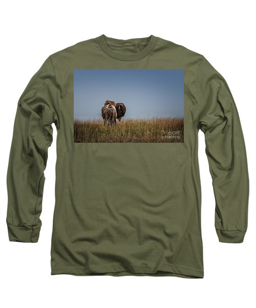 A Bison Interrupted Long Sleeve T-Shirt