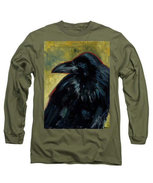 Long Sleeve T-Shirt featuring the painting A Black Tie Affair by Billie Colson