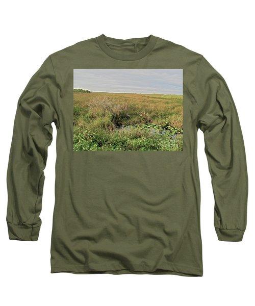 A Blue Heron Among The Glades Long Sleeve T-Shirt