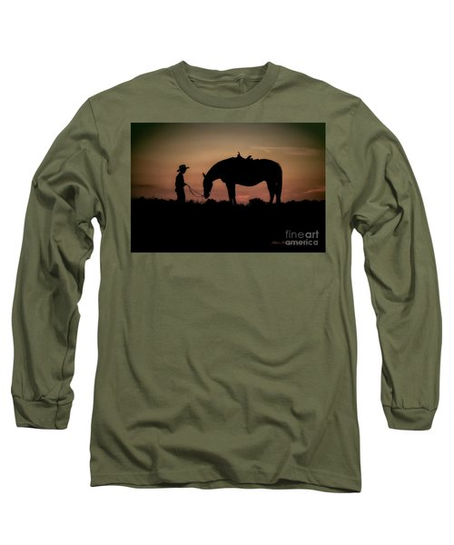 A Boy And His Horse Long Sleeve T-Shirt