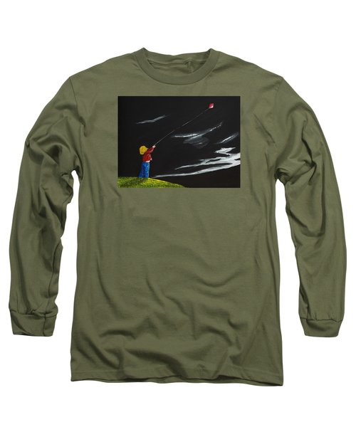 A Braw Night For Flight Long Sleeve T-Shirt by Scott Wilmot