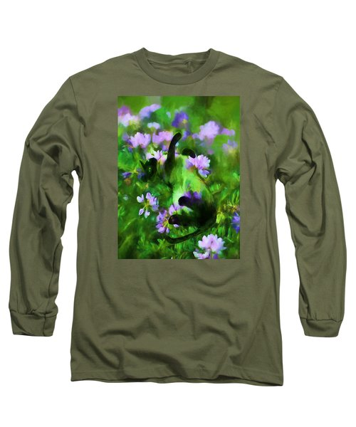 A Cat's Dream Long Sleeve T-Shirt