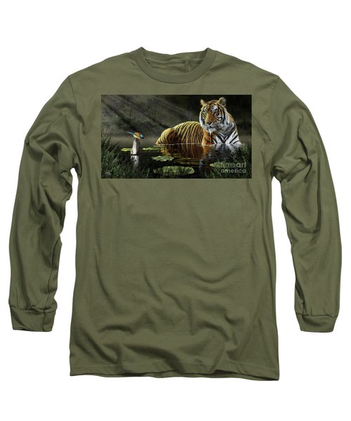 Long Sleeve T-Shirt featuring the digital art A Chance Encounter by Don Olea