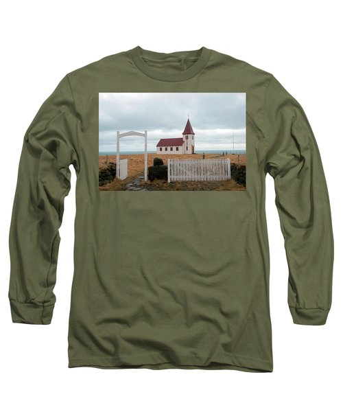 Long Sleeve T-Shirt featuring the photograph A Church With No Fence by Dubi Roman