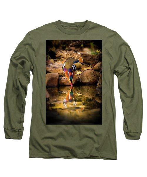 A Cold Drink - Mandarin Drake Long Sleeve T-Shirt