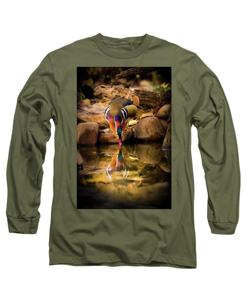 A Cold Drink - Mandarin Drake Long Sleeve T-Shirt