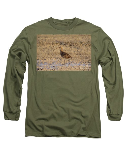 A Curlew Taking A Walk Long Sleeve T-Shirt