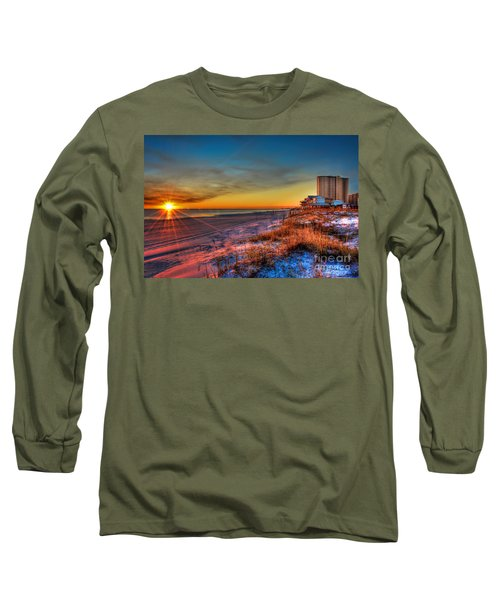 A December Beach Sunset Long Sleeve T-Shirt